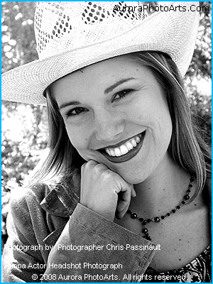 Tampa Headshot photograph of Tampa actor Rosemary Riquel